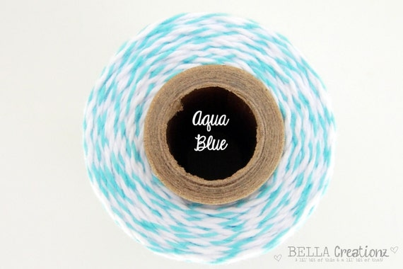 SALE - Aqua Blue Bakers Twine  by Timeless Twine