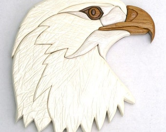 Intarsia Eagle Head