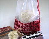 Knitting Text At-A-Glance Knitting/Crochet/Spinning Zippered Accessory & Project Bag-Large/Med/Small