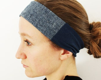 Hemp and Organic Cotton Denim Headband - GREAT GIFT