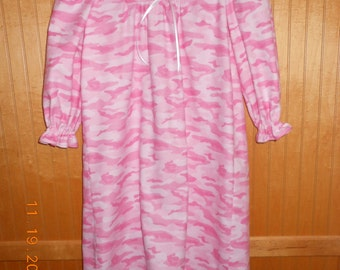 Size 3 pink camo nightgown
