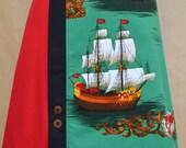 Emerald Seas vintage fabric panel skirt