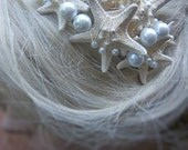 Beach Wedding Starfish Hair Accessory Comb (Onotoa Atoll or Whitehaven Starfish Style). Made to Order, Custom Details