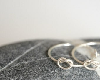 Love knot earrings in sterling silver - MADE TO ORDER