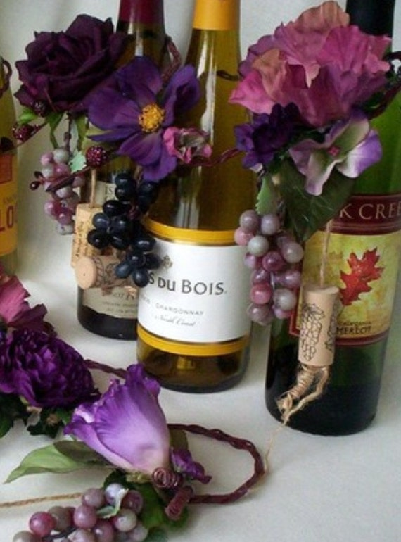 Items similar to purple burgundy tones vineyard wedding