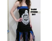 SALE Cattle Decapitation Death Metal Dress DIY Upcycled Shirt