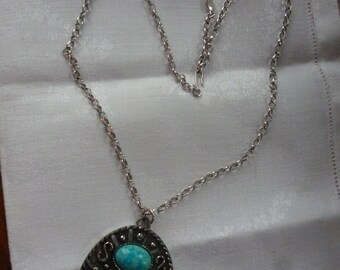 Vintage SARAH COVENTRY Bold Faux Turquoise Necklace