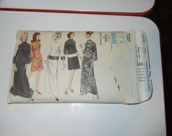 Vogue 7227 pattern complete 1960s