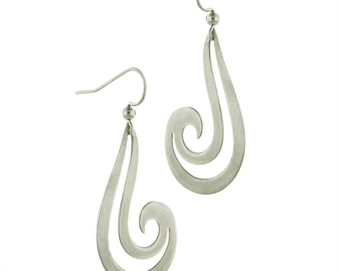 Big Tribal Hooks in Sterling Silver