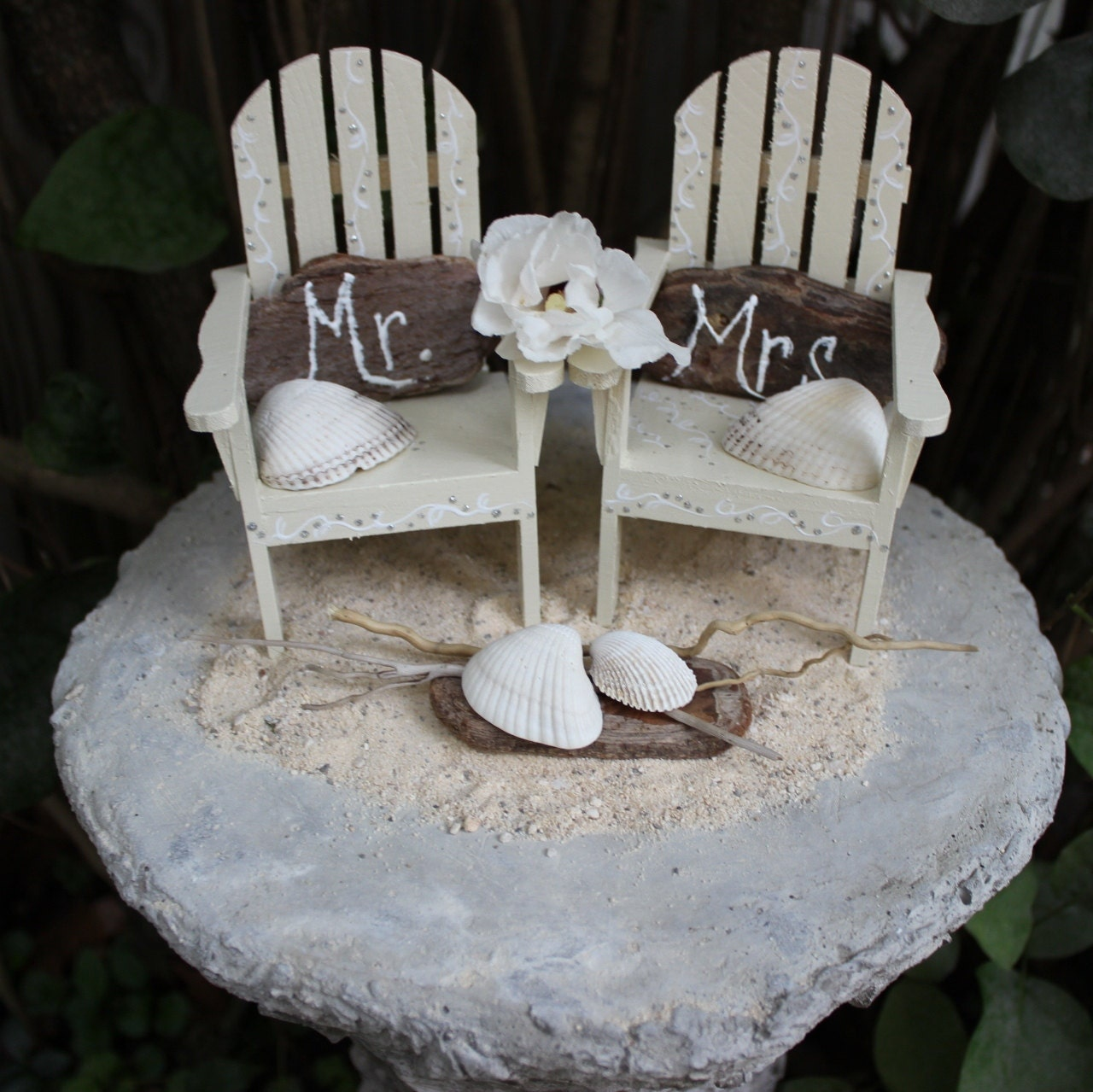 Unique Beach Wedding Ideas: Unique Coastal Cake Topper Set Beach Wedding By ElaLakeDesign