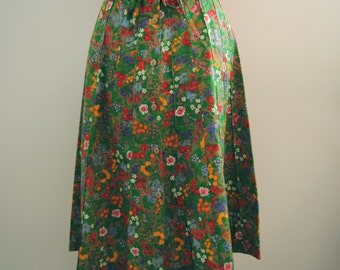 Vintage Green Flowered Skirt by ILYZA New York