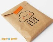 Kraft Brown Merchandise Bags for Party Favors or Gift Wrapping Kawaii 5 x 7 1/2