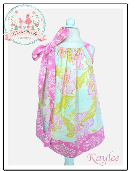 "Pillowcase Dress Pattern, Girls Dress Pattern, Easy Sewing PDF Patterns, Sewing Patterns, Baby Dress Sewing Pattern 3m-8 ""Kaylee Dress"""
