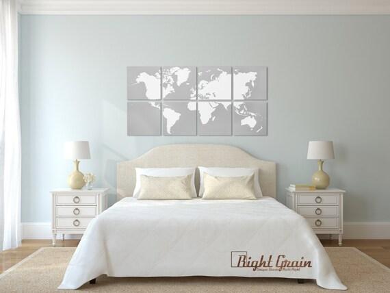Large World Map Art Large Painting World Map Wall