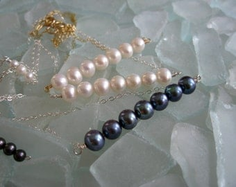 6-7mm Freshwater Pearl Necklaces Gold-Filled and Sterling Silver