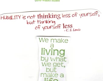 Quotes Pack - Lot of 3 Great New UM Stamps -  ATCs - Domino Art - Collage - Card Making - Mixed Media - FREE Shipping