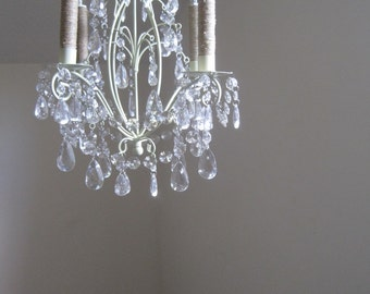 Lovely Lauren Hanging Cottage Chic Candle Chandelier MADE TO ORDER