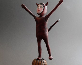 Little Devil - One of a Kind Doll - Halloween- Figurative Sculpture - OOAK