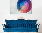 Fine Art Canvas Gallery Wrap Giclee Print Color Wheel Finished Ready to Hang Home Decor Polaroid Film Rainbow Modern Retro Wholesale