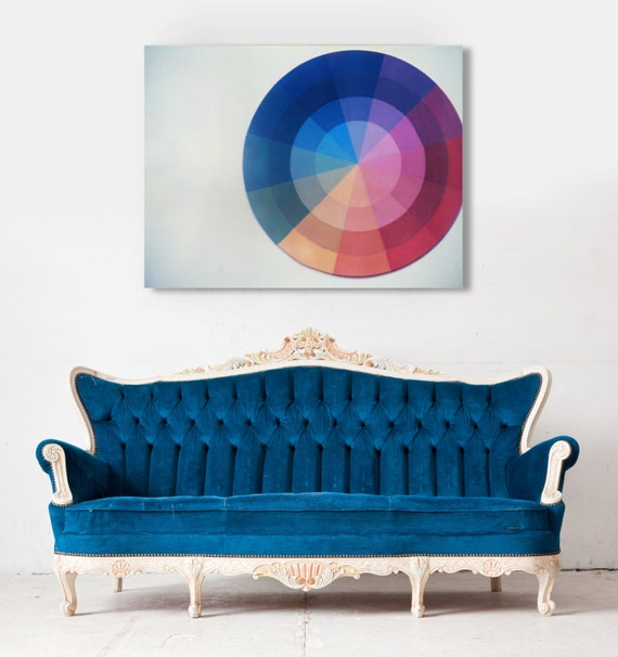 Fine Art Canvas Gallery Wrap Giclee Print Color Wheel Finished