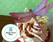 Wedding Cake Topper The Original EDIBLE DRAGONFLIES in pink - Cake & Cupcake toppers - Food Accessories
