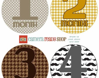 The Sawyer Collection: Monthly Baby Belly Stickers