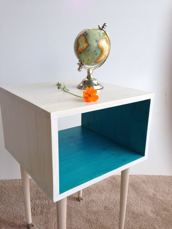 Items Similar To Free Shipping The Joliet Side Table Mcm Mid Century Modern Side Table In