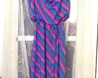 vintage 70s candy stripe sun dress