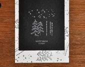 Stamp SET-winter forest by bastisRIKE