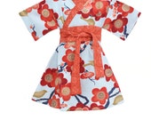 KIMONO DRESS - Autumn Sakura- sizes 0 through 6 years - baby girls toddler easter dress