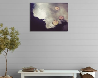 Canvas Gallery Wrap, Water Lilies, Pond, Spring, Reflection, Art Photograph, Ready to Hang, 8x10, 11x14, 16x20, 20x24, 20x30, 24x36, 30x40