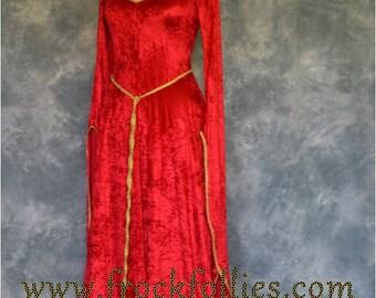 "Elvish Dress,Medieval Gown, Fantasy Dress, Pagan Dress, Robe Elfique, Pre-Raphaelite Gown,  Medieval Dress, Prom Dress, ""Faith"""