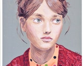 Fine art print -- Girl with Braided Hair