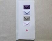 Congratulations Baby Girl - Tiny Envelopes Card