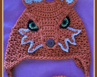 Hat Inspired by What does the Fox Say Crochet Patter PDF - INSTANT DOWNLOAD.