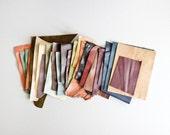 Scrap Leather Pieces - Mixed Colours - BUMPER Scrap bag - 460 grams - 1 lb - 16 oz - remnants - off cuts