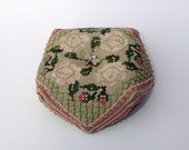 Paris Roses Biscornu Cross Stitch Pattern Instant Download