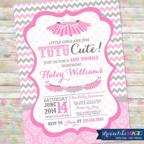 sprinkle tutu baby shower tutu thrilled tutus baby shower invite