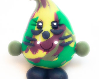 Camouflage PARKER Figurine - Polymer Clay Whimsical Character Figure - Limited Edition