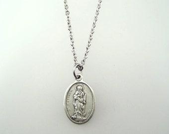 Saint Matthew Medal Necklace