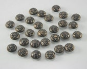 100 pcs Vintage Flower Antique Dark Brass Dome Rivets Studs Buttons Decorations Findings 9 mm. DR FW DBR91 K