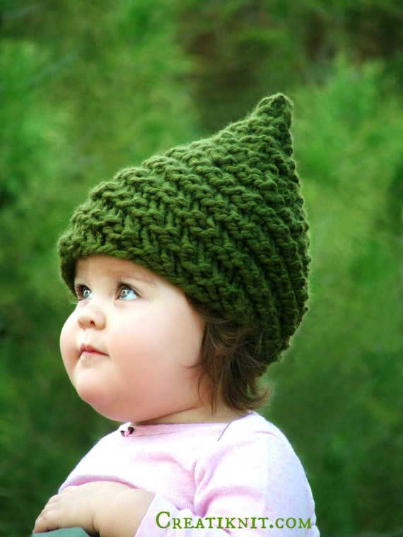 Baby Gnome Hat Baby Girl Clothes Gnome Costume Knit Gnome Hat Newborn Knit Baby Hat Infant 0-6mo/12-48mo/5-10 yr