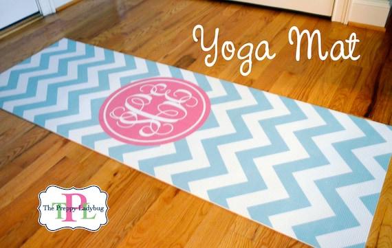 Monogrammed Yoga Mat Design Your Own