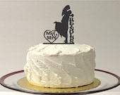 SILHOUETTE Wedding Cake Topper Lifting Up Bride Personalized With YOUR Family Last Name Mr and Mrs Wedding Cake Topper Dancing