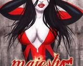 Majesty issue one digital superhero comic Frank Kader Cover edition
