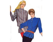 80s High neck blouse pattern Butterick 4662 Vintage Sewing Pattern SMALL Size 8 - 10 Bust 31 1/2 - 32 1/2 UNCUT Factory Folded