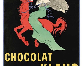 """New Vintage Reproduction French Advertising Poster """"Chocolat Klaus """" c1903"""