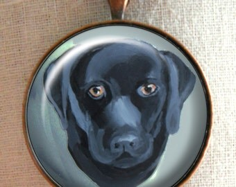 Black Lab Keychain ~ Original Art ~ Gifts for Him ~ March Birthday ~ Lab Owner Gift