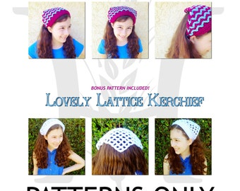 Paradise Waves Kerchief Crochet Pattern for Girls and Women