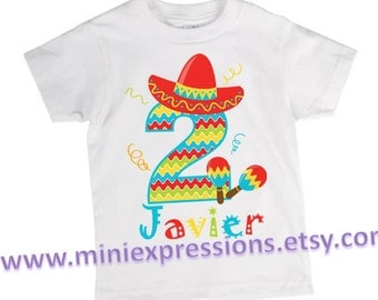 Fiesta Birthday Shirt Personalized